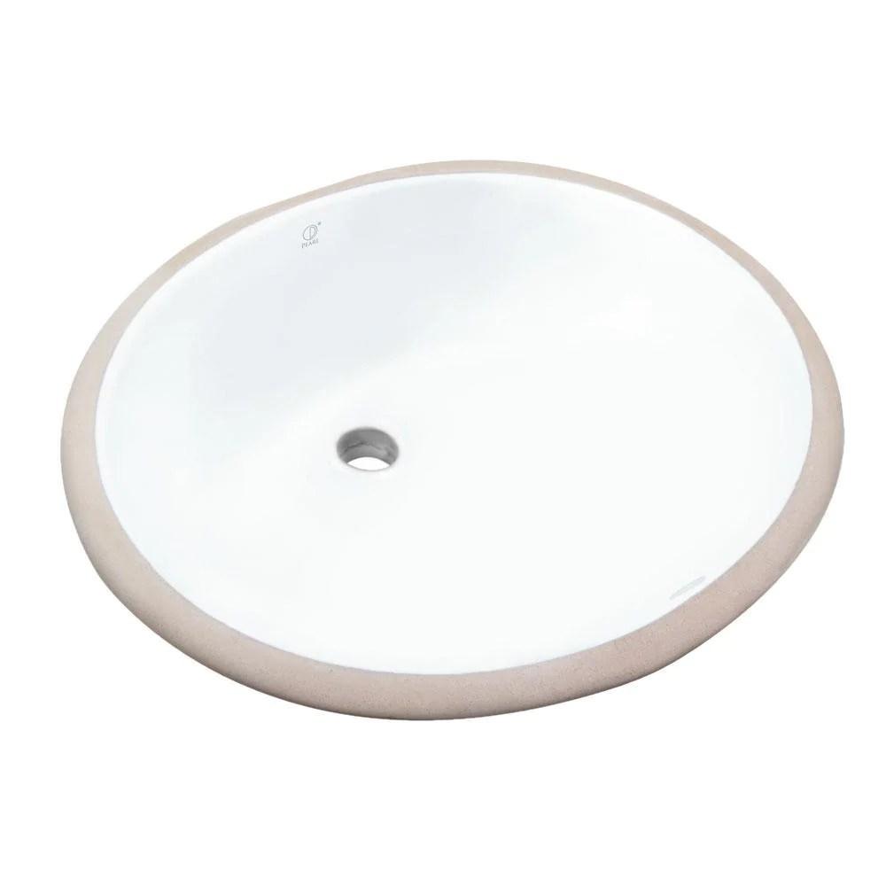 pearl 19 1 4 oval undermount bathroom sink white kasu c gbc1714 oval