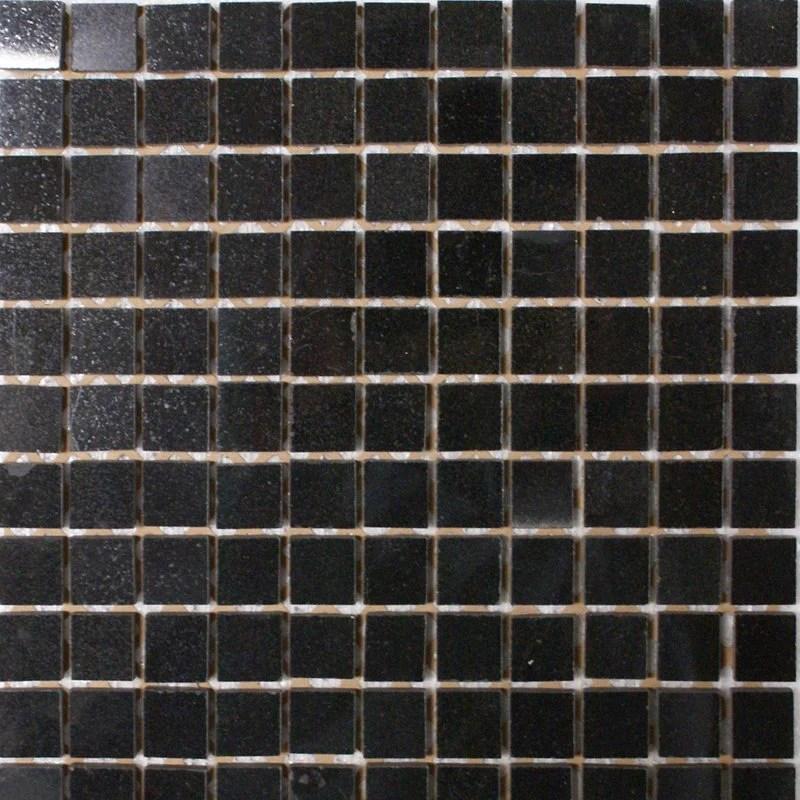 black galaxy granite mosaic 1 x 1