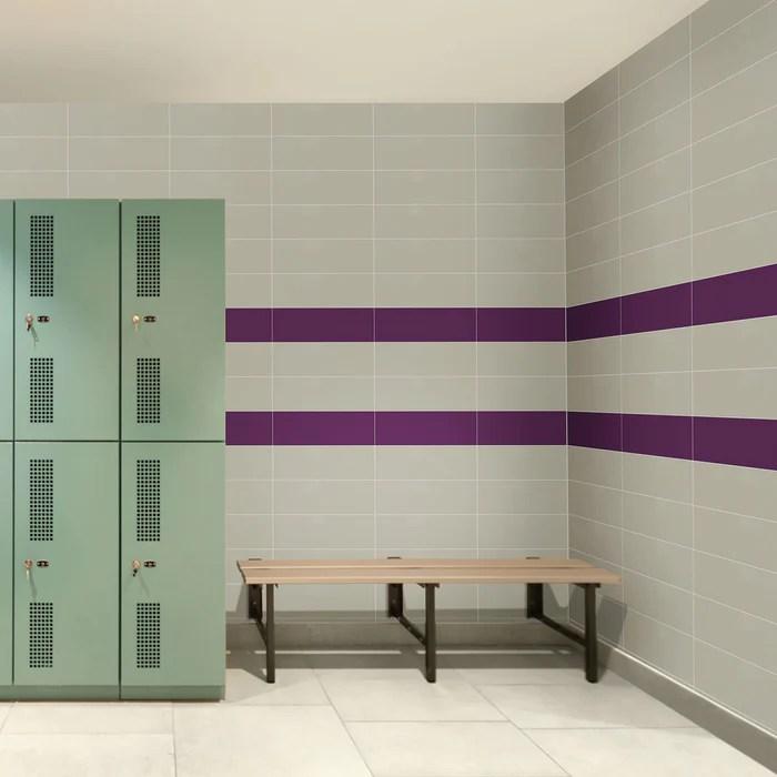 color wheel linear plum crazy ceramic tile semi gloss
