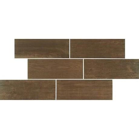emblem brown ceramic tile matte