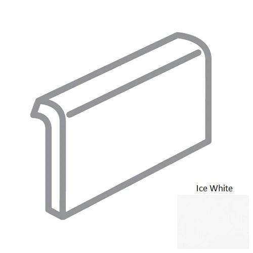 traditions ice white ceramic wall trim 2 x 6 mud cap