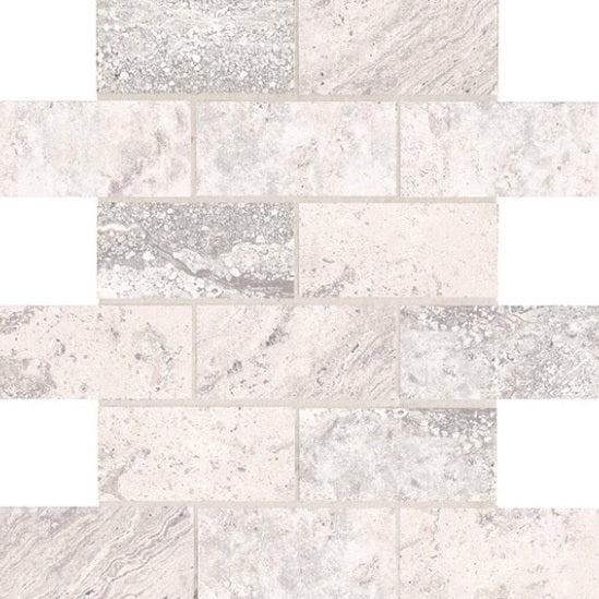 laurel heights gray summit ceramic mosaic 2 x 4 brick