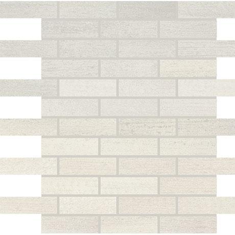 persuade white porcelain mosaic 1 x 3 brick