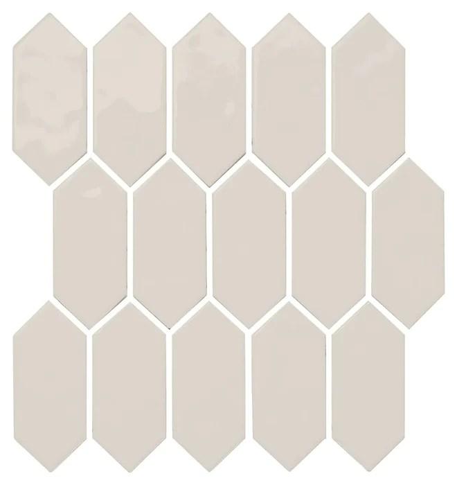 mythology olympus ceramic mosaic 2 x 5 picket fence