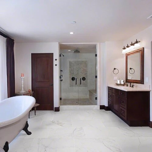 pietra carrara porcelain tile polished