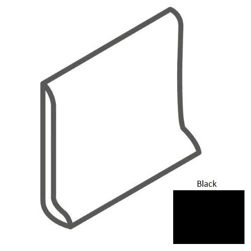 color wheel classic black ceramic wall trim 6 x 6 sanitary cove base slim foot