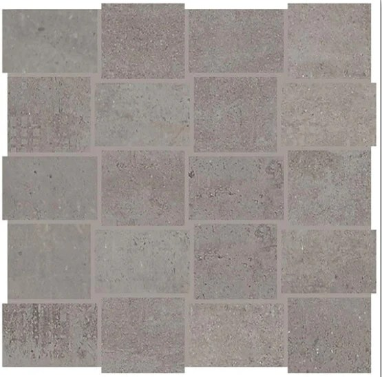 union industrial gray porcelain mosaic 2 x 3 modern weave