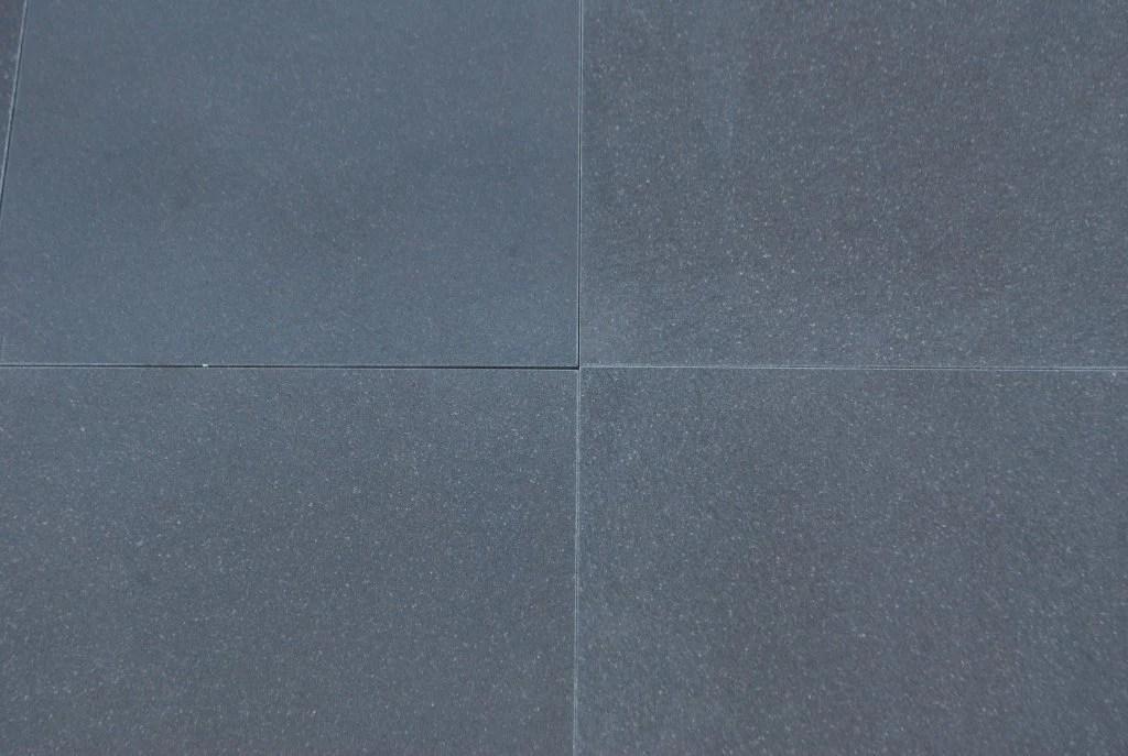 absolute black granite tile honed