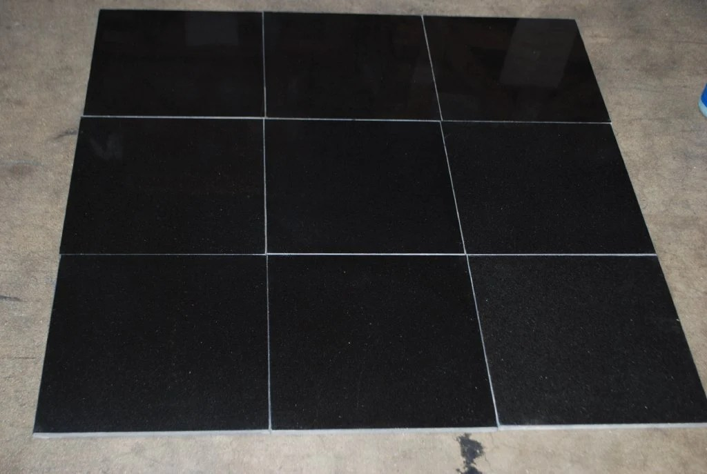 absolute black granite tile polished