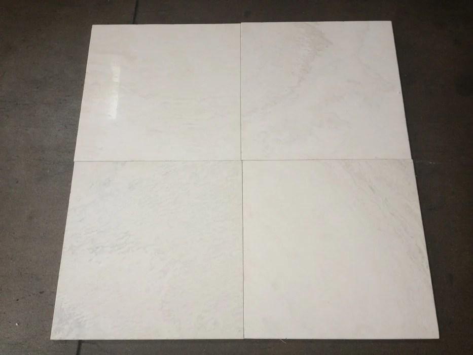 polar white travertine tile polished
