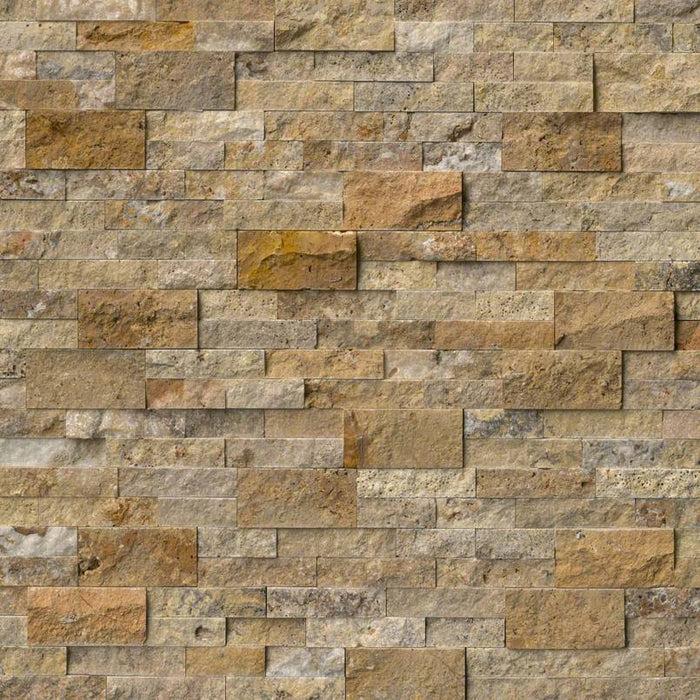 rockmount stacked stone panel tuscany scabas travertine ledgestone split face