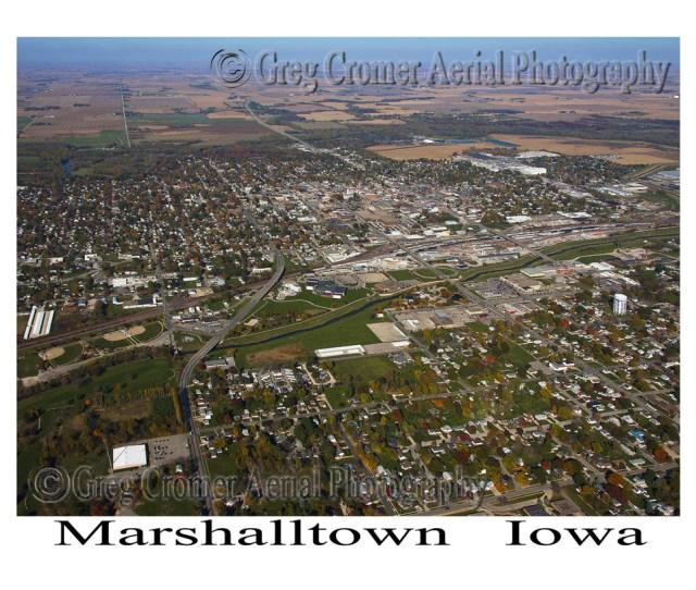 Aerial Photo Of Marshalltown Iowa