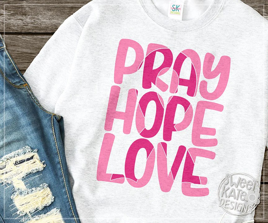 Download Pink Pray Hope Love with Knockout Breast Cancer Awareness ...