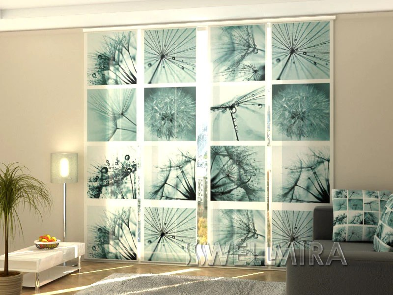 set of 4 panel curtains dandelion interior textiles wellmira