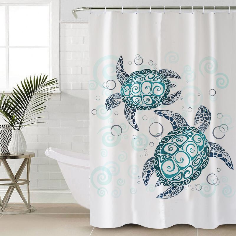coastal shower curtains beachy