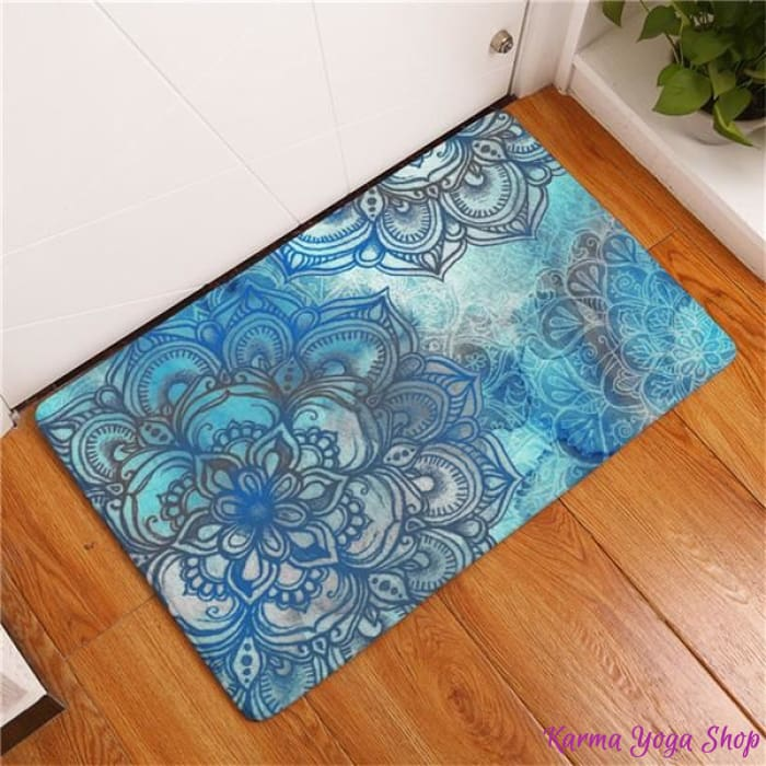 tapis antiderapant mandala artistique 11 couleurs disponibles