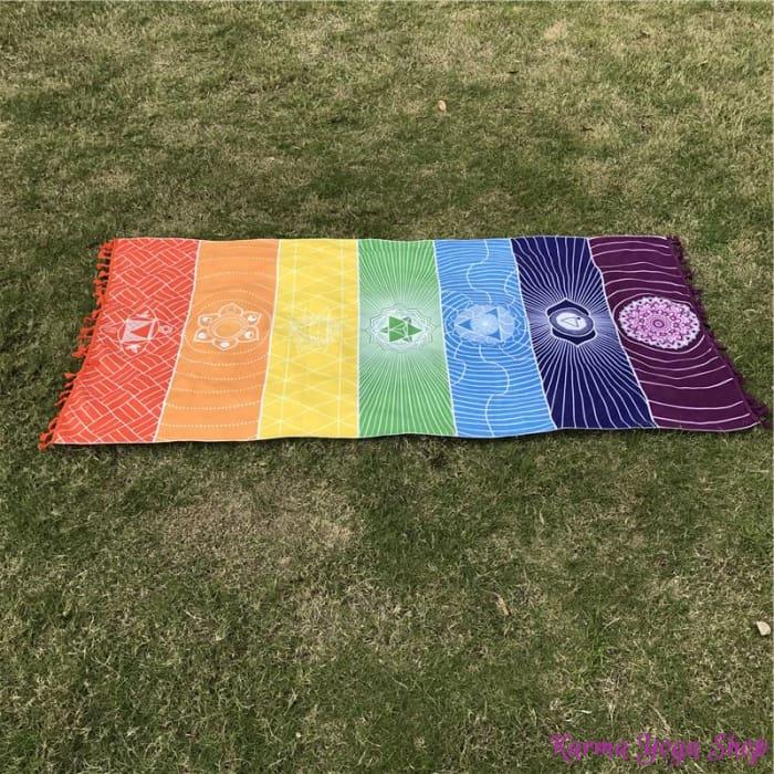 tapis de meditation 7 chakras