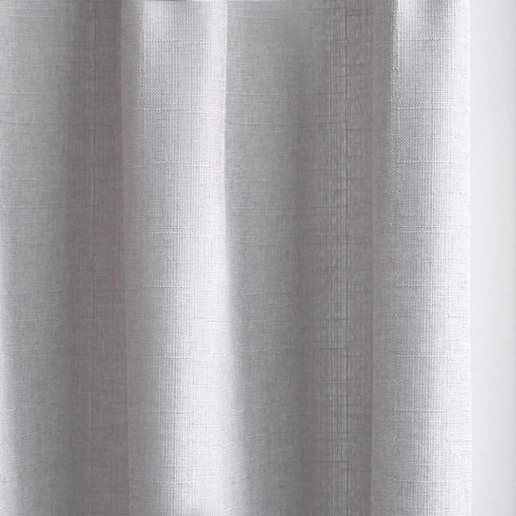 Canvas Cotton Blend Cross Weave Curtains Warm Gray