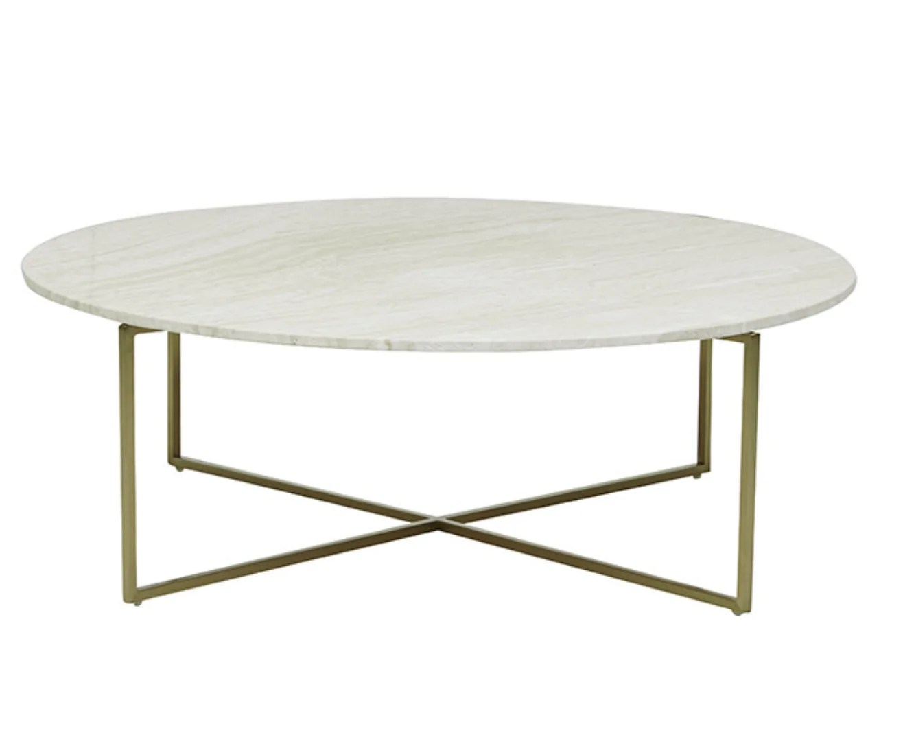 globewest elle luxe marble round coffee table