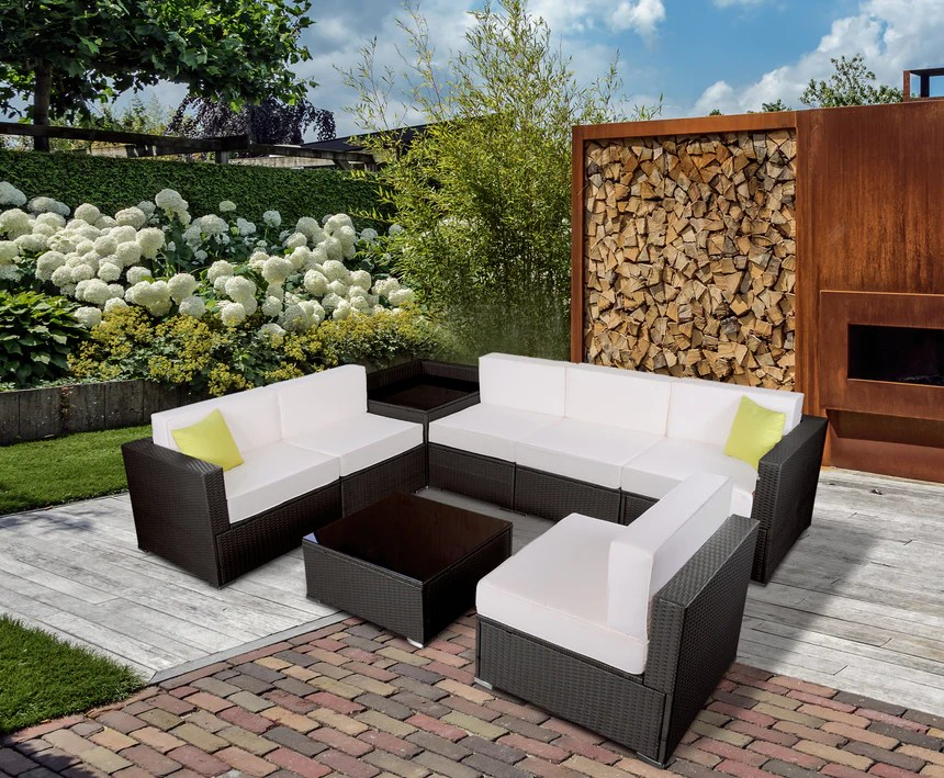 mcombo 8 pieces patio furniture sets with cushions all weather outdoo mcombo