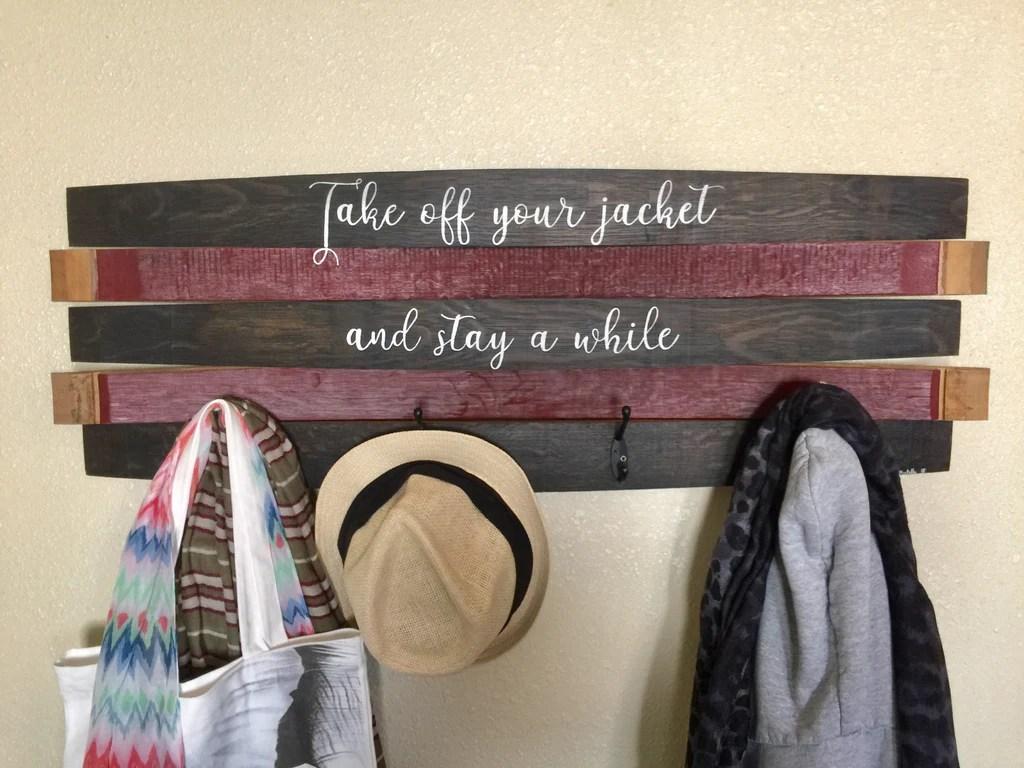 personalized saying coat rack