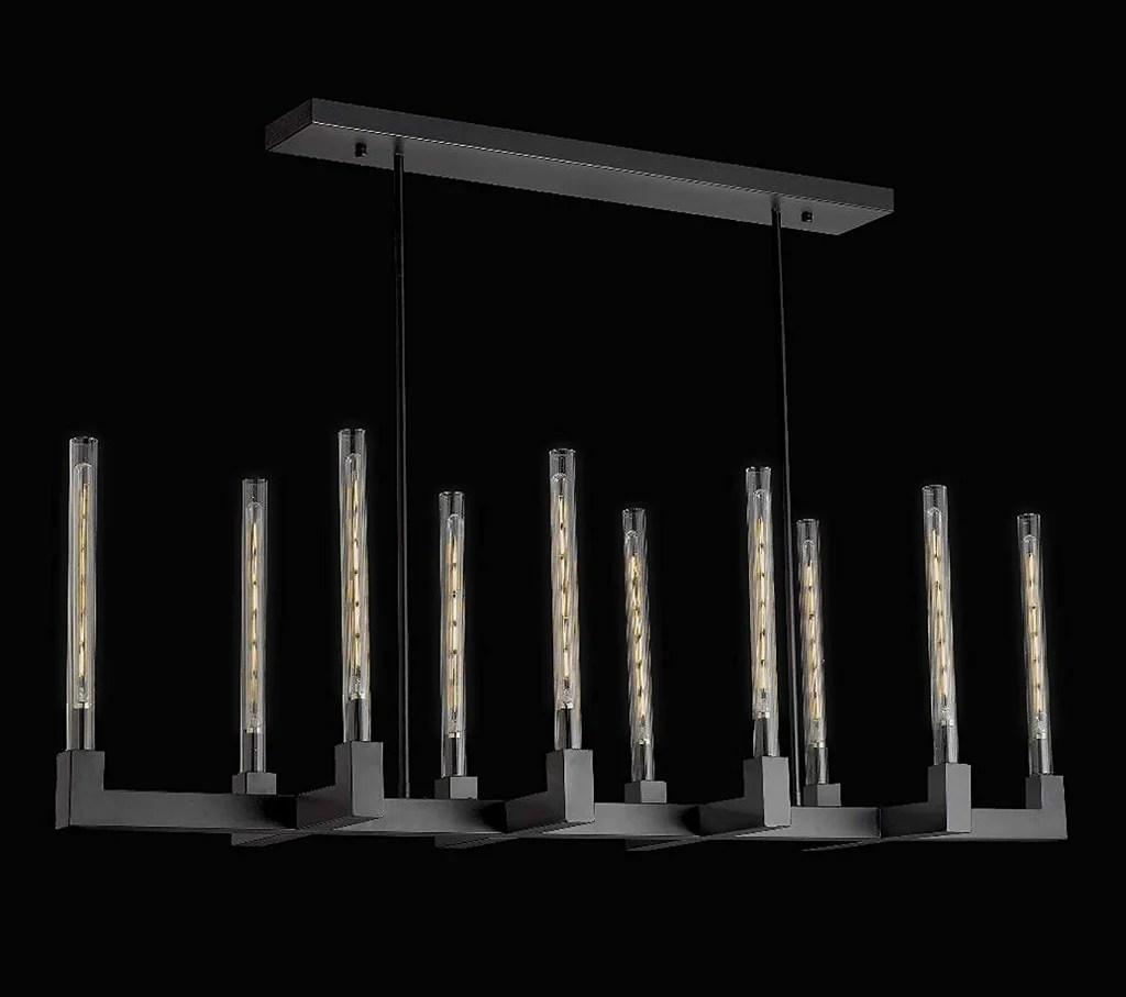 corsica linear chandelier 55 vintage barn metal chandelier chandeliers industrial loft rustic lighting great for the living room dining room