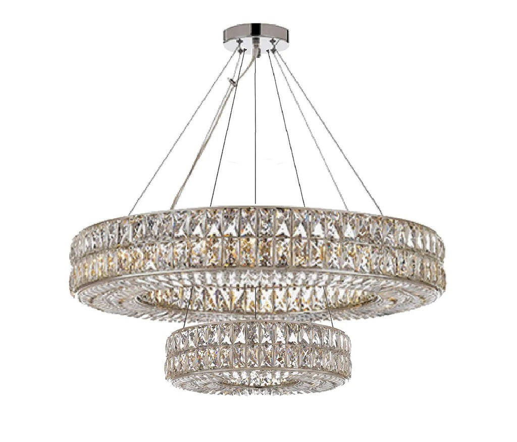 crystal nimbus ring chandelier modern contemporary lighting pendant 40 wide for dining room foyer entryway family room double ring