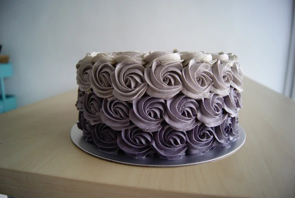 Ombre Rosette Buttercream Cake Out Of The Cake Box