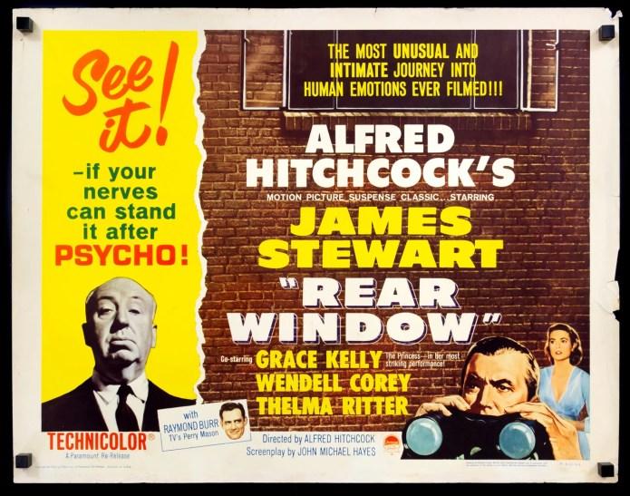 Rear Window 1954 Original R1962 Half Sheet Movie Poster Original Film Art Vintage Movie Posters