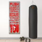Push Yourself Gym Fitness Motivational Canvas Wall Art Men S Fitness M