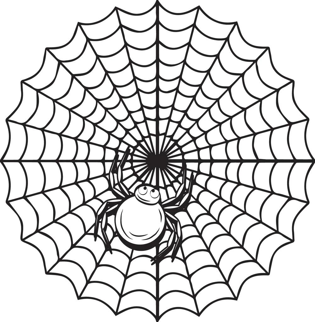 Printable Halloween Spider Coloring Page for Kids #2 ...