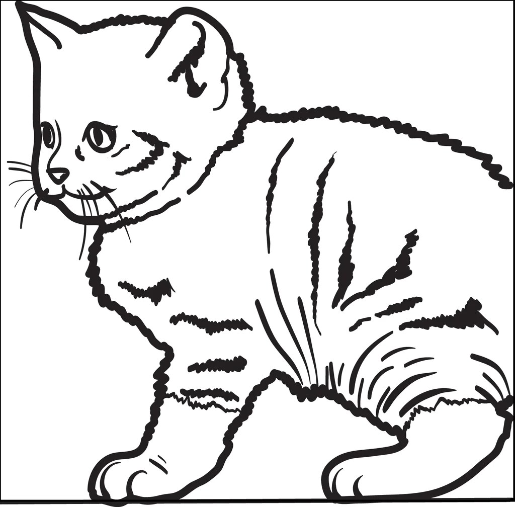 Printable Cute Kitty Cat Coloring Page For Kids Supplyme