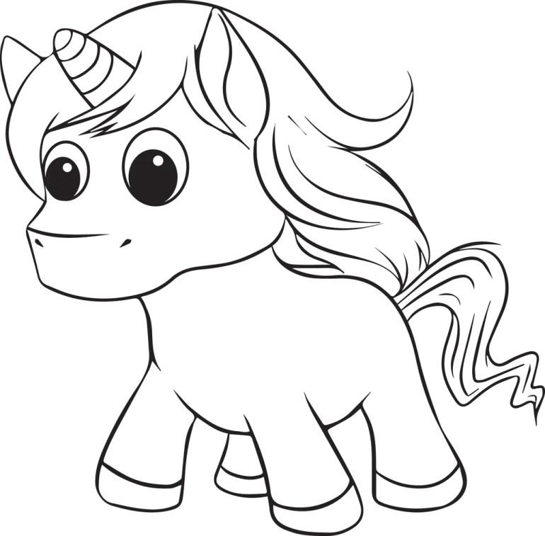 Printable Unicorn Coloring Page for Kids #2 – SupplyMe | coloring pages printable unicorn