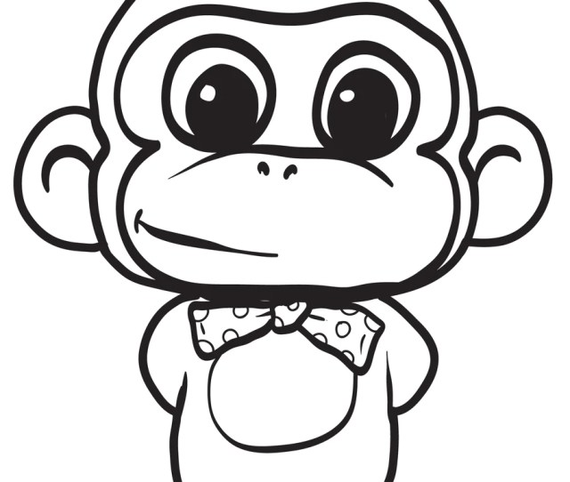 Printable Cartoon Monkey Coloring Page For Kids  Supplyme