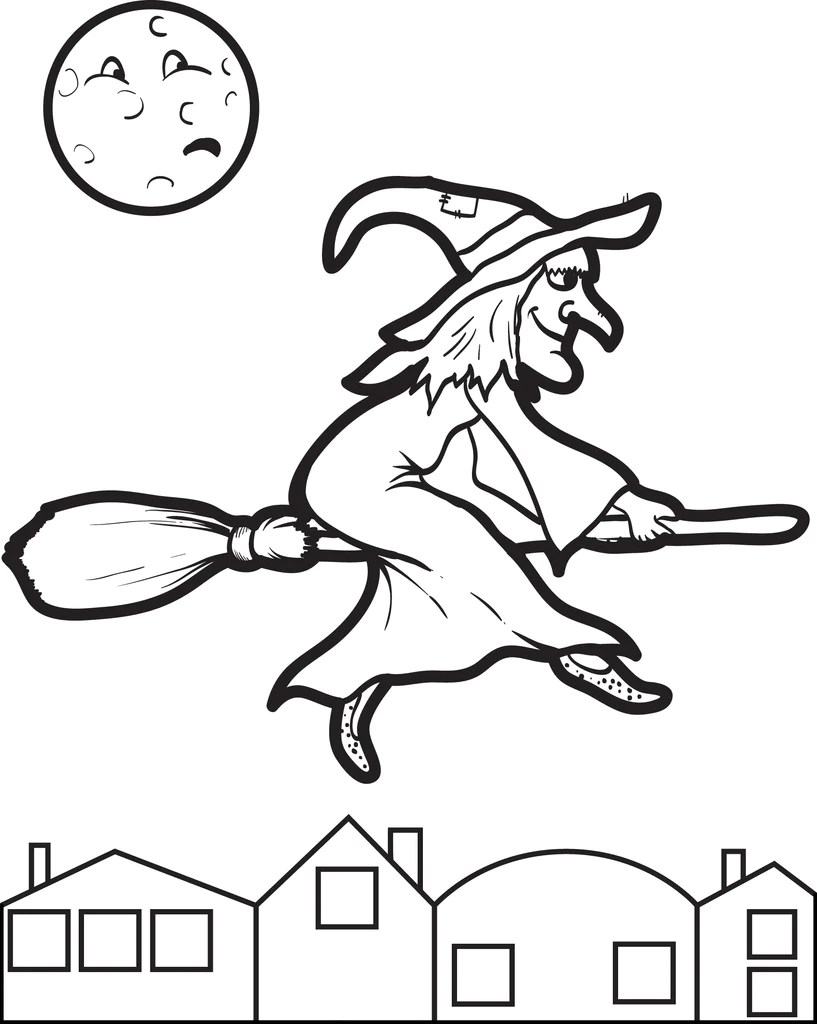 Printable Halloween Witch Coloring Page For Kids 7 Supplyme