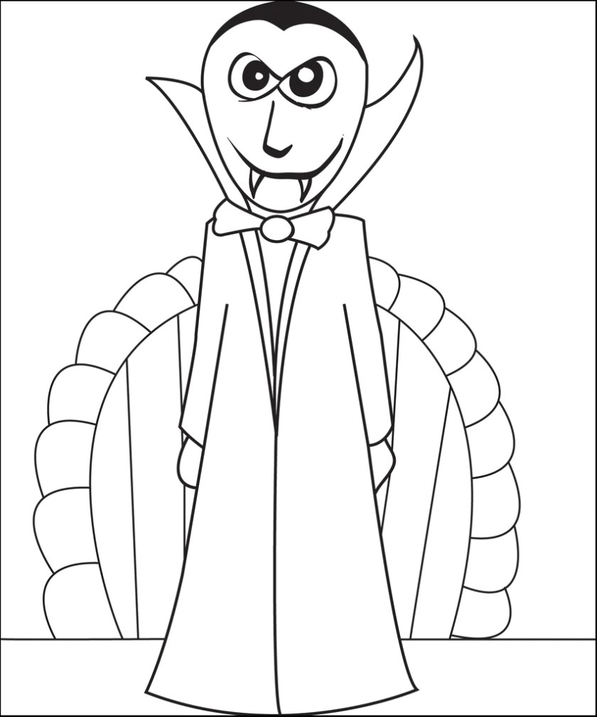 free printable vampire coloring page for kids #2 – supplyme