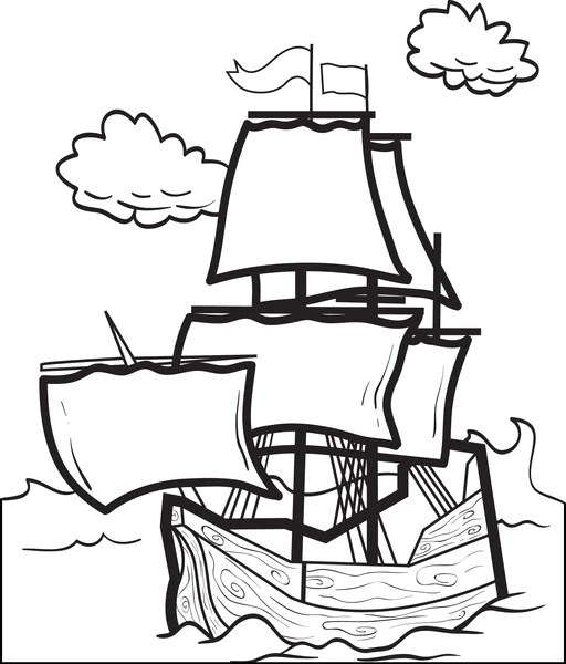 FREE Printable Mayflower Coloring Page For Kids 4 SupplyMe
