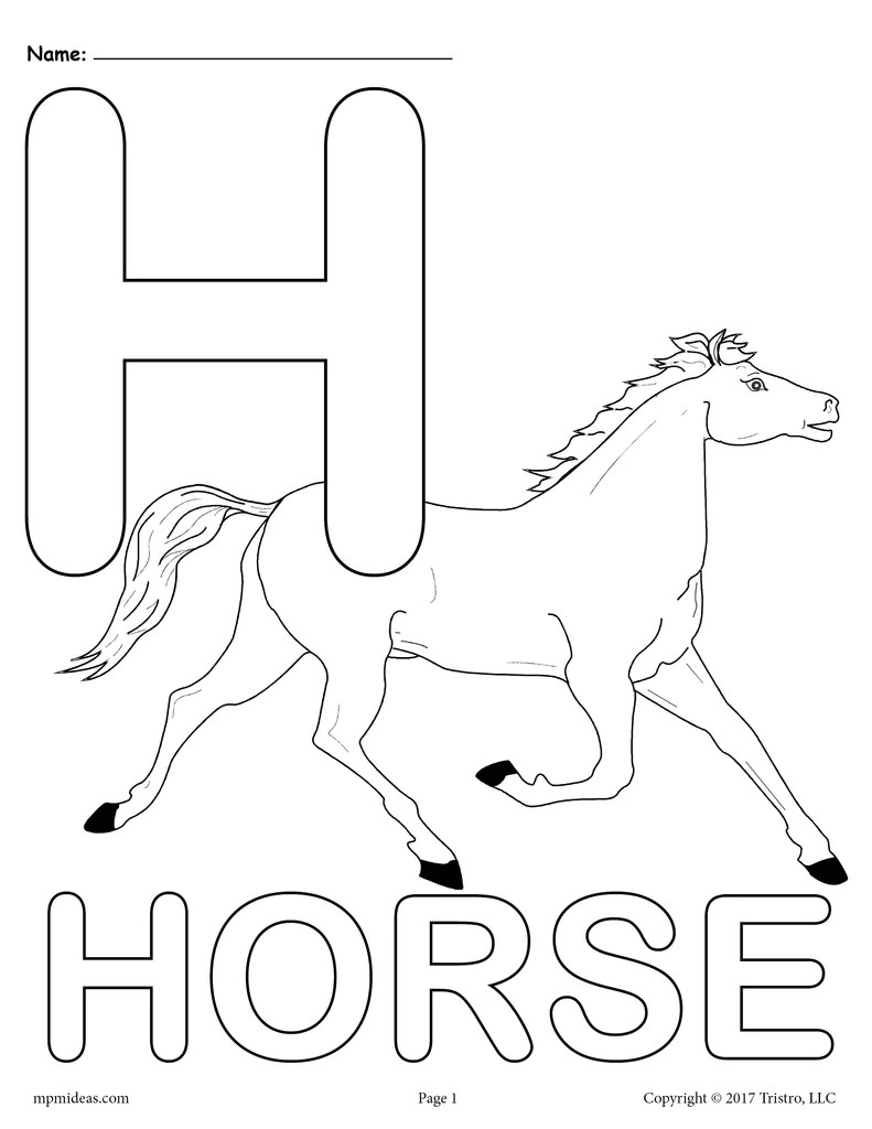 letter h alphabet coloring pages  3 free printable