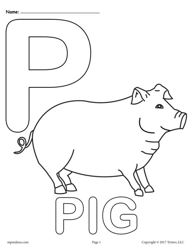 Letter P Alphabet Coloring Pages - 24 Printable Versions!