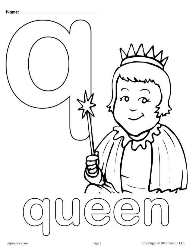 Letter Q Alphabet Coloring Pages - 16 Printable Versions!