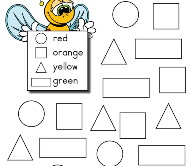Bee Themed Shapes Coloring Pages Supplyme