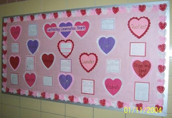 Math Conversation Hearts Valentines Day Bulletin Board