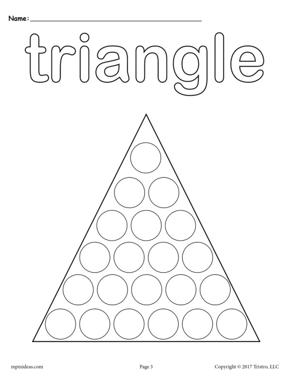 triangle coloring page # 5