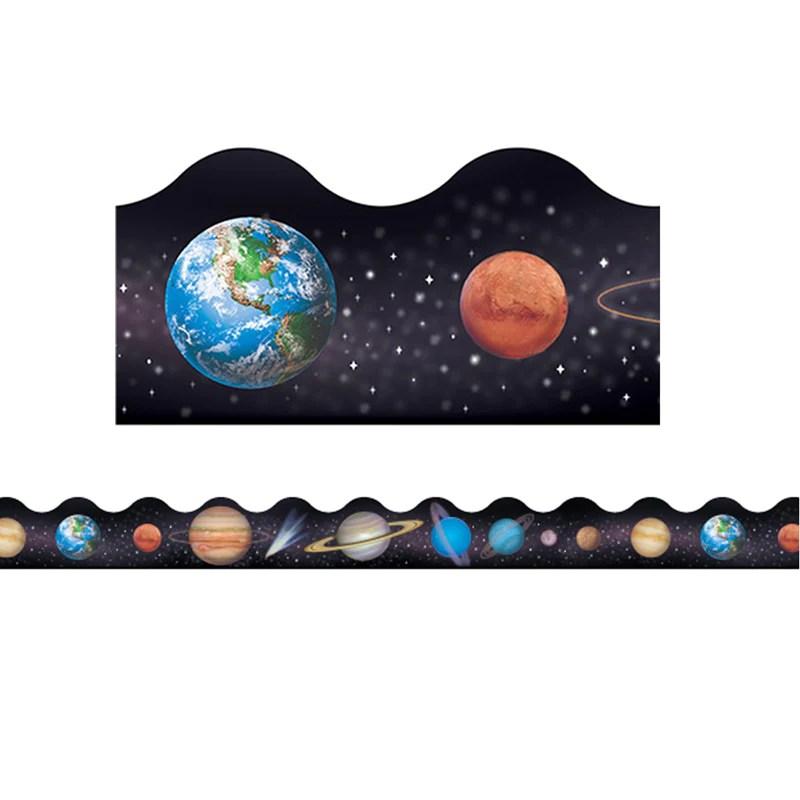 Solar System Bulletin Board Border, Scalloped | T-92007 ...