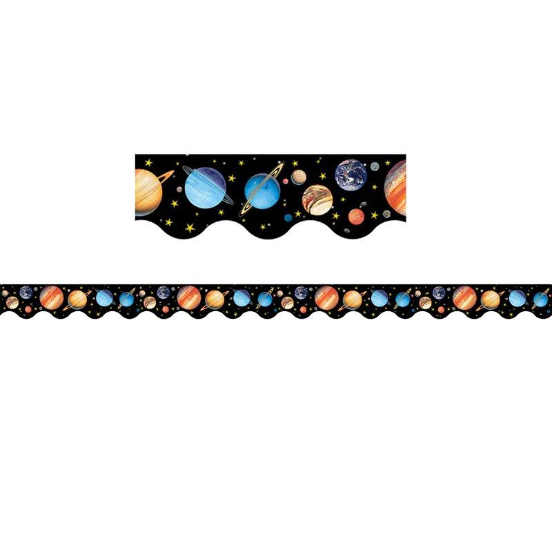 Teacher Created Resources Solar System Scalloped Border ...