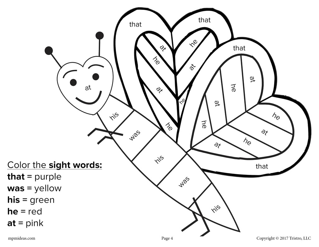 Valentines Day Language Arts Worksheets