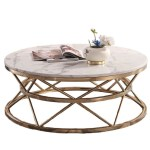 40cm High Round Marble Coffee Table My Aashis