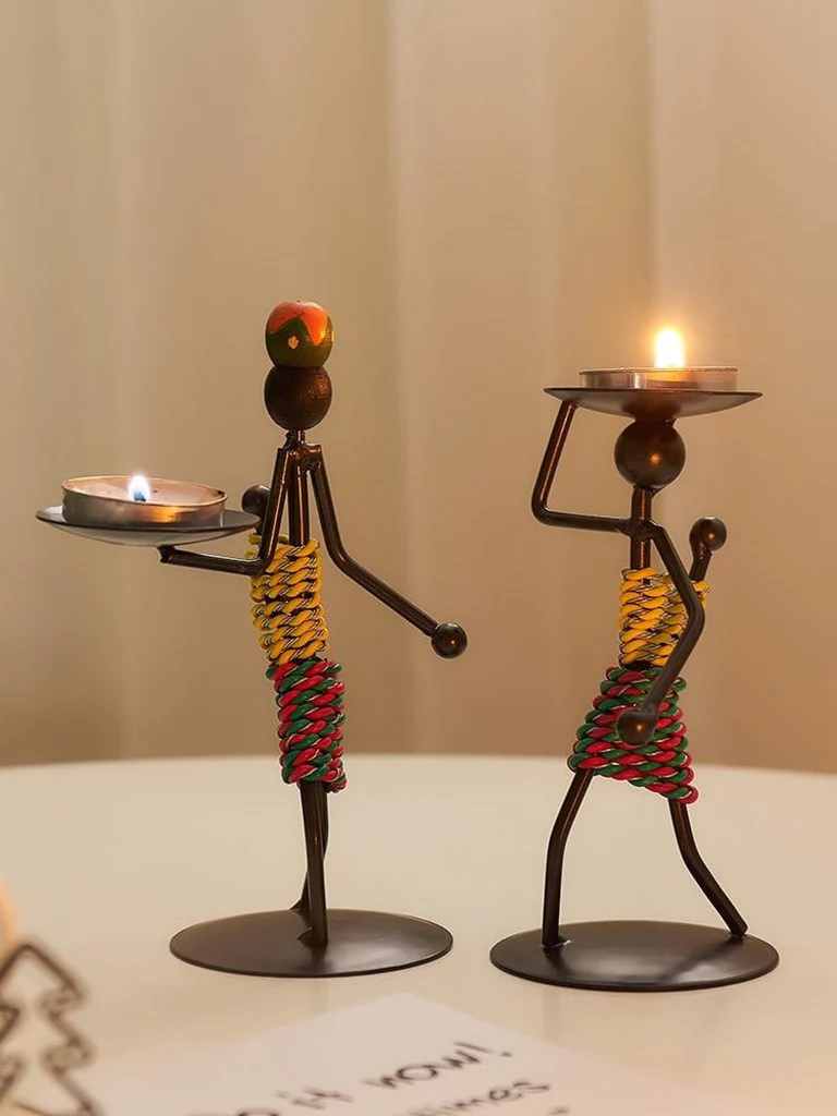 Fun Metal Candle Holder For Table Top Decor   My Aashis on Decorative Wall Sconces Candle Holders Centerpieces Ebay id=84017