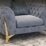 Elegant Button Tufted Grey Sectional Sofa For Home Furniture