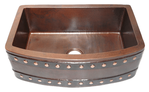 Copper Rounded Apron Farmhouse Sinks Rustic Sinks